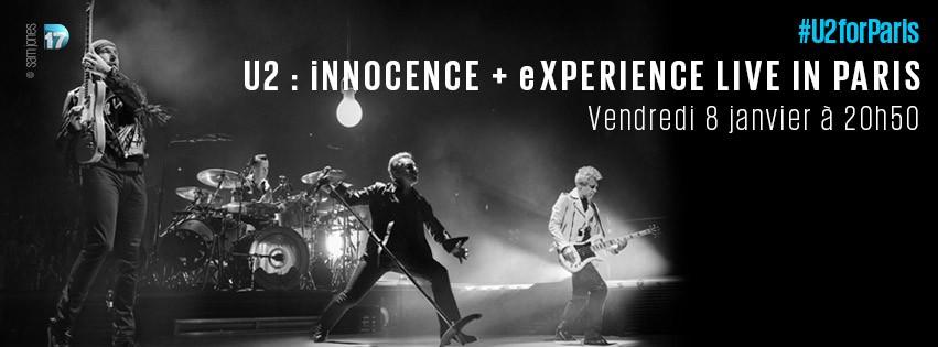 Le Live in Paris de U2 sur D17 ce soir