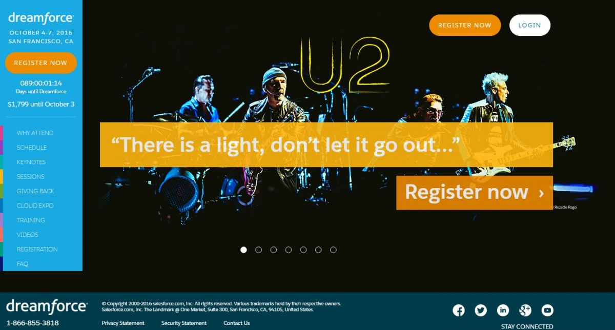 U2 en live pour Salesforce le 5 octobre