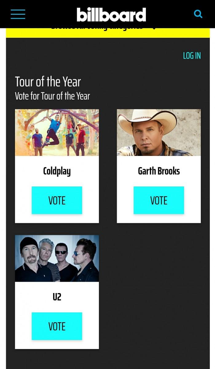 U2 nommé aux American Music Awards