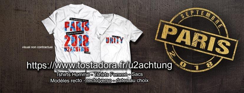 Achetez votre t-shirt U2Achtung pour la tournée !