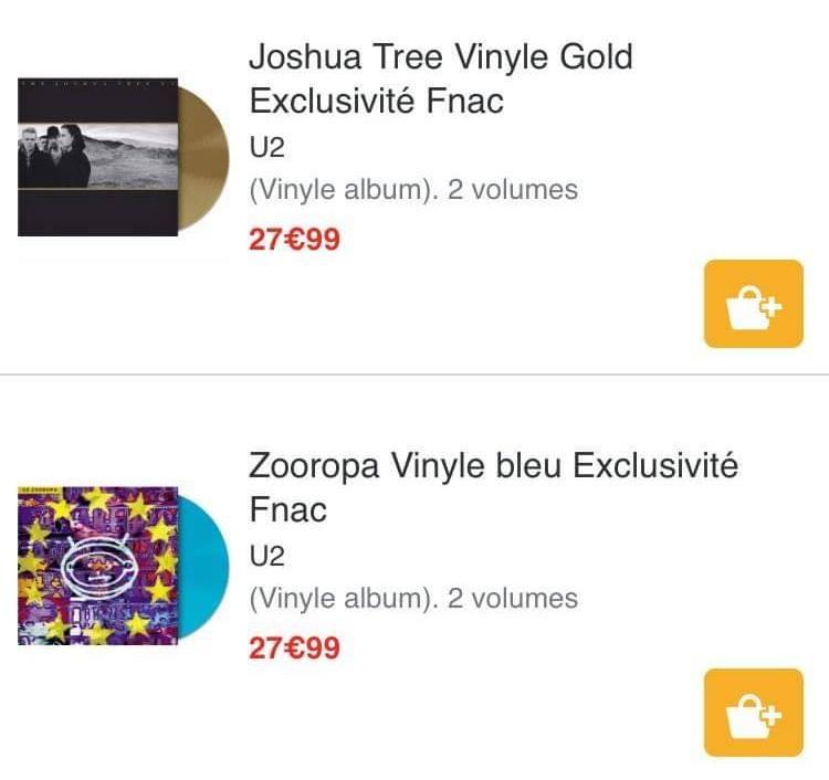 Nouvelles éditions vinyles de Zooropa et The Joshua Tree