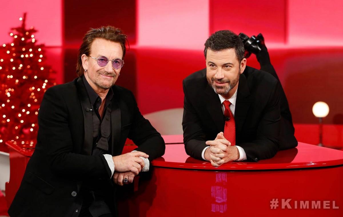 Bono chez Jimmy Kimmel pour RED