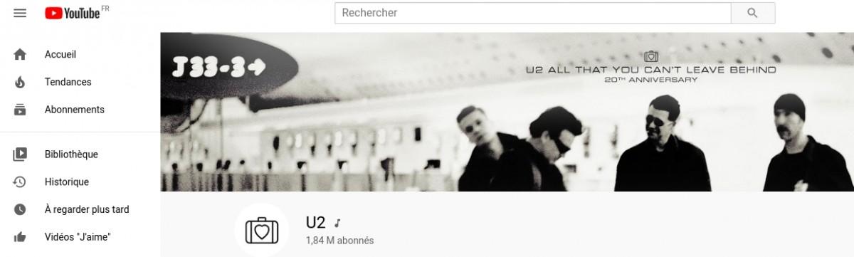 U2 relance sa chaîne YouTube