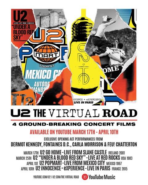 U2 The Virtual Road : rendez-vous sur YouTube